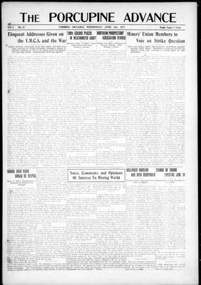 Porcupine Advance, 13 Jun 1917
