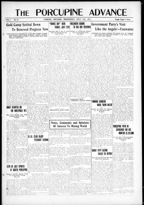Porcupine Advance, 11 Jul 1917