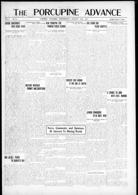Porcupine Advance, 15 Aug 1917