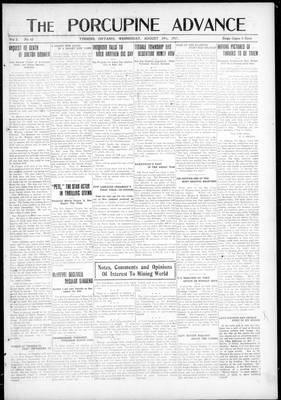 Porcupine Advance, 29 Aug 1917