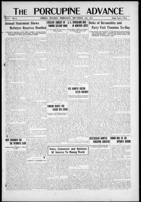 Porcupine Advance, 26 Sep 1917