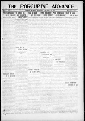 Porcupine Advance, 3 Oct 1917