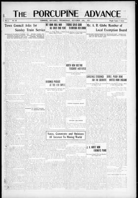 Porcupine Advance, 10 Oct 1917