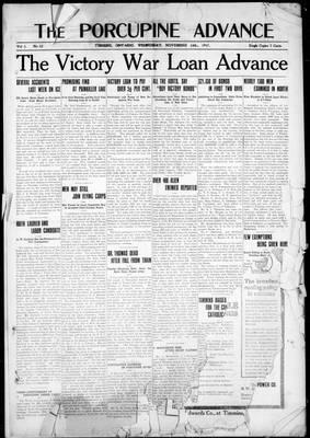 Porcupine Advance, 14 Nov 1917