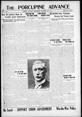 Porcupine Advance, 5 Dec 1917