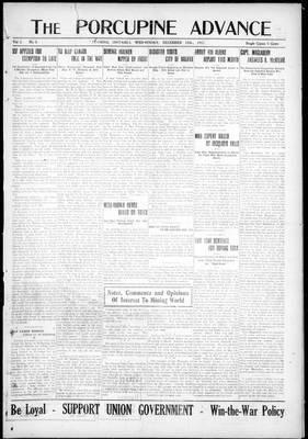 Porcupine Advance, 12 Dec 1917