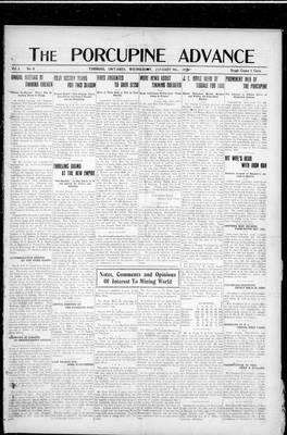 Porcupine Advance, 9 Jan 1918