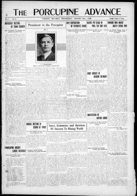 Porcupine Advance, 16 Jan 1918