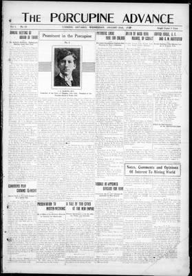 Porcupine Advance, 23 Jan 1918