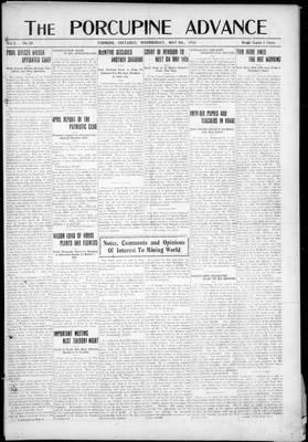 Porcupine Advance, 8 May 1918