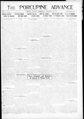 Porcupine Advance, 11 Sep 1918
