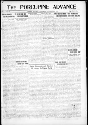Porcupine Advance, 6 Nov 1918