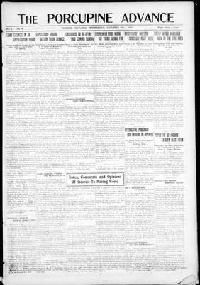 Porcupine Advance, 18 Dec 1918