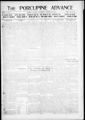 Porcupine Advance, 8 Jan 1919