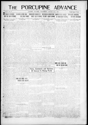 Porcupine Advance, 22 Jan 1919