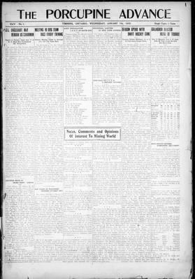 Porcupine Advance, 7 Jan 1920