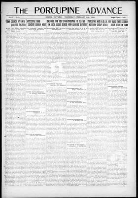 Porcupine Advance, 11 Feb 1920