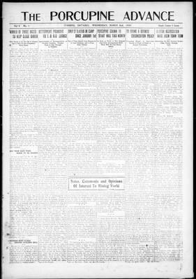 Porcupine Advance, 2 Mar 1920