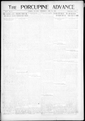 Porcupine Advance, 7 Apr 1920