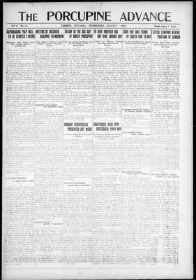 Porcupine Advance, 4 Aug 1920