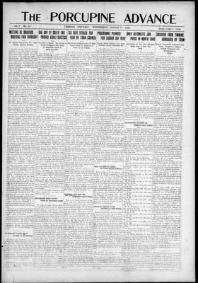 Porcupine Advance, 11 Aug 1920