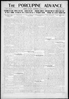 Porcupine Advance, 18 Aug 1920