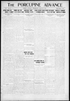 Porcupine Advance, 25 Aug 1920