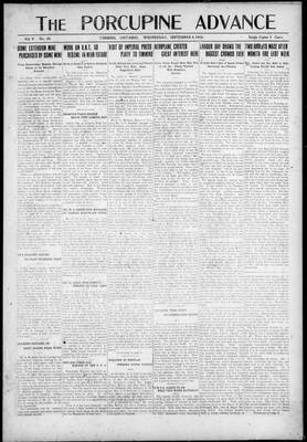 Porcupine Advance, 8 Sep 1920