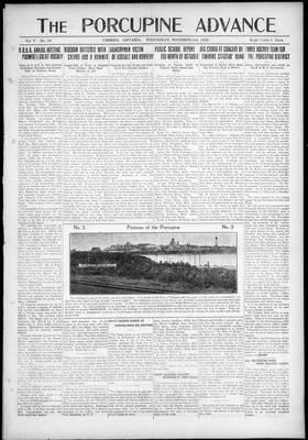 Porcupine Advance, 3 Nov 1920
