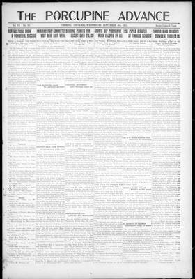 Porcupine Advance, 6 Sep 1922