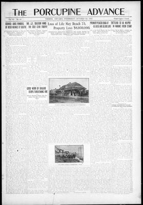 Porcupine Advance, 11 Oct 1922