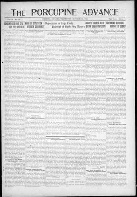 Porcupine Advance, 25 Oct 1922