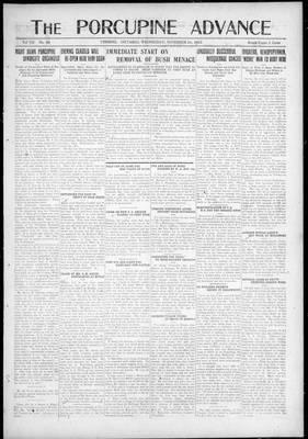 Porcupine Advance, 1 Nov 1922