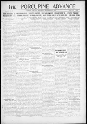 Porcupine Advance, 22 Nov 1922
