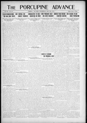 Porcupine Advance, 16 May 1923