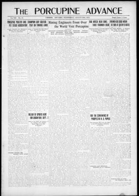 Porcupine Advance, 29 Aug 1923