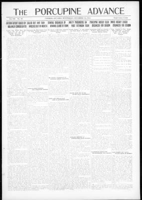 Porcupine Advance, 7 Nov 1923