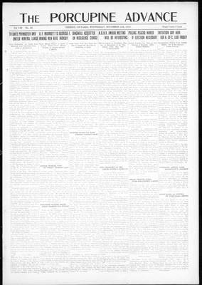 Porcupine Advance, 14 Nov 1923