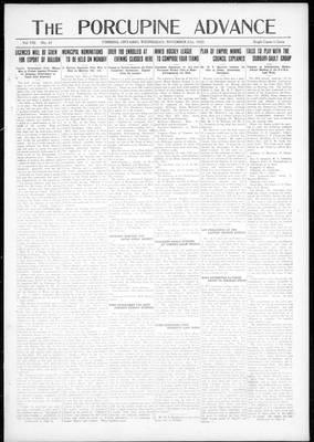 Porcupine Advance, 21 Nov 1923