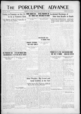 Porcupine Advance, 1 Oct 1924