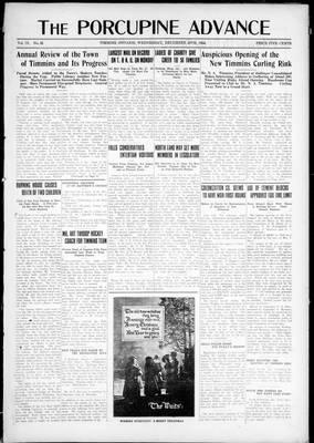 Porcupine Advance, 24 Dec 1924