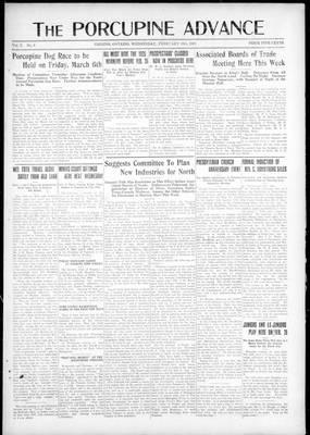 Porcupine Advance, 18 Feb 1925