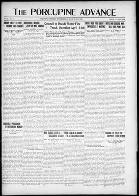 Porcupine Advance, 25 Mar 1925