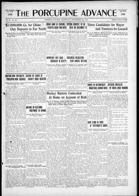 Porcupine Advance, 3 Dec 1925