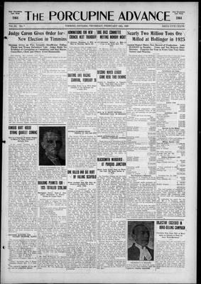 Porcupine Advance, 18 Feb 1926