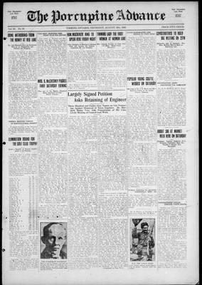 Porcupine Advance, 19 Aug 1926