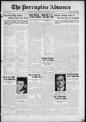 Porcupine Advance, 7 Oct 1926