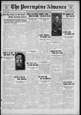 Porcupine Advance, 14 Oct 1926