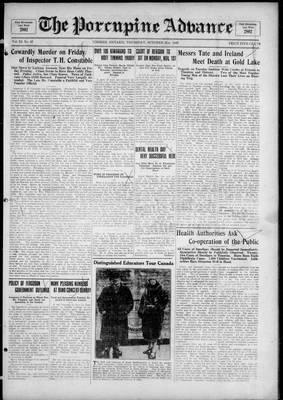 Porcupine Advance, 21 Oct 1926