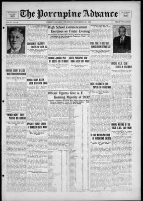 Porcupine Advance, 9 Dec 1926